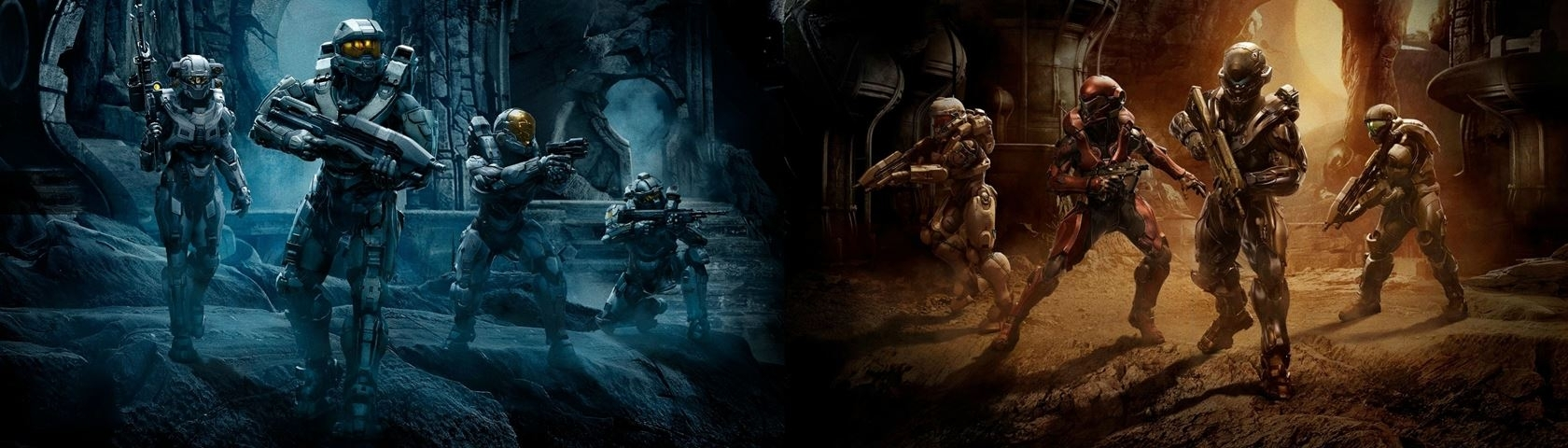 halo 5 guardians - dual screen • images • wallpaperfusionbinary