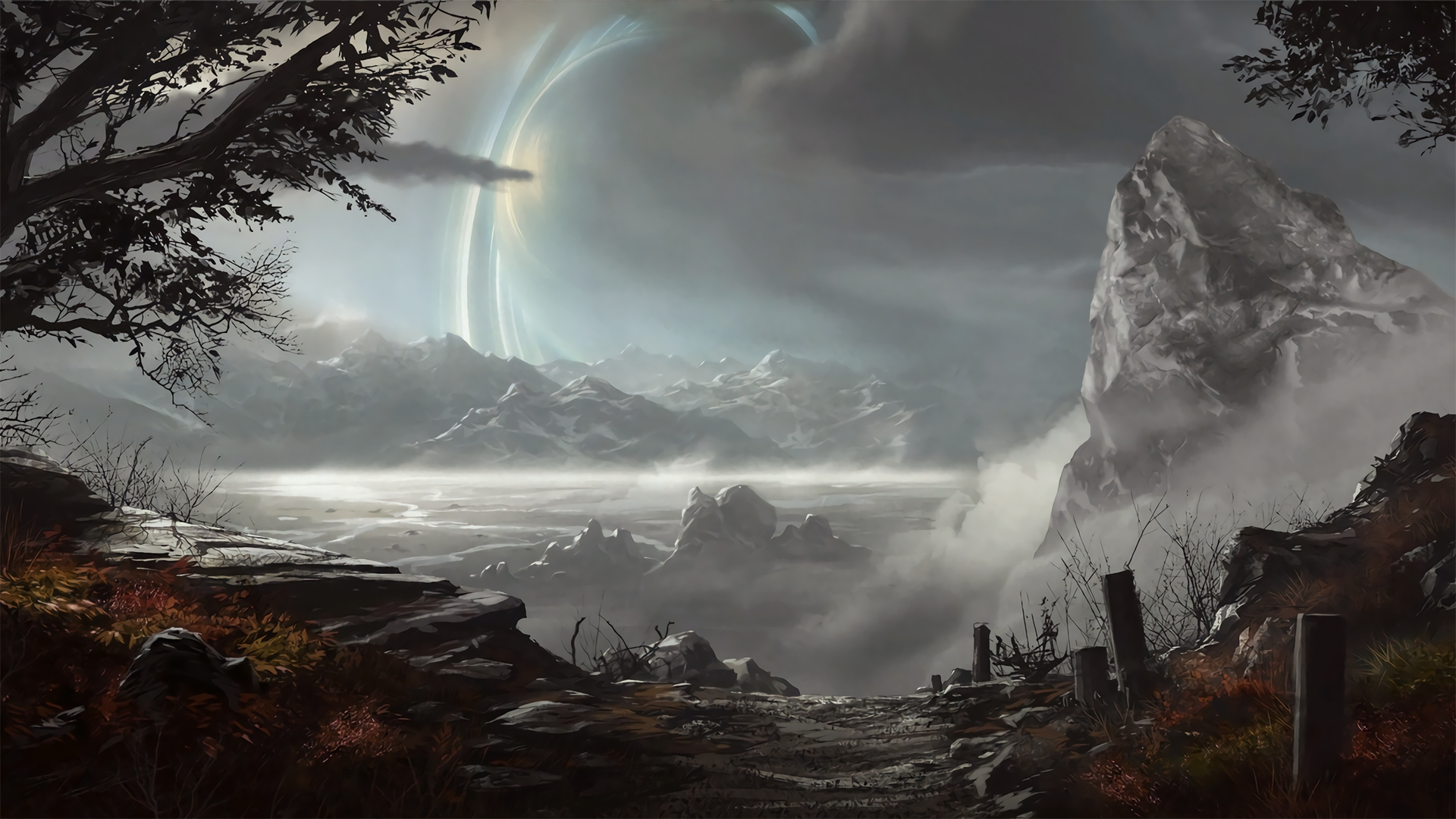 halo: reach backgrounds in 4k : halo