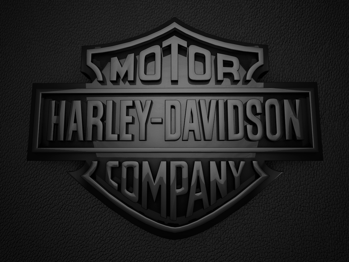 10 Latest Black Harley Davidson Logo FULL HD 1920×1080 For PC Background