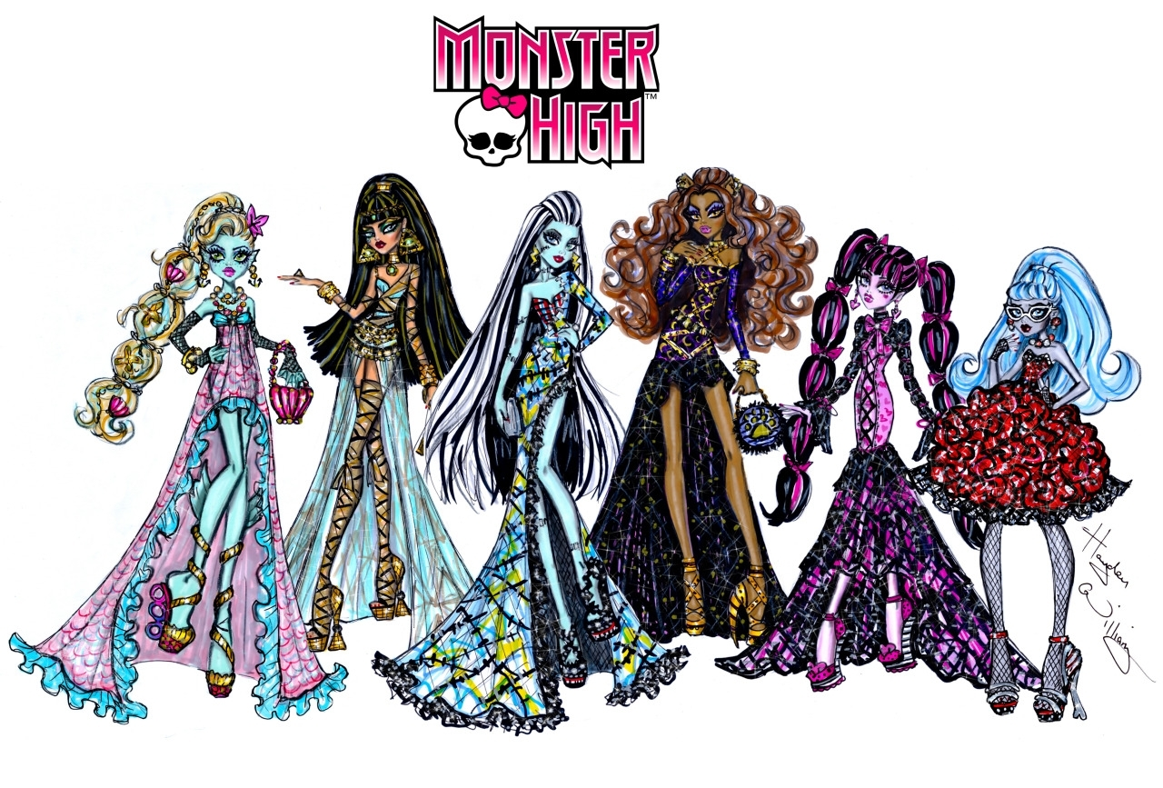 hayden williams fashion illustrations | the ghouls of monster high