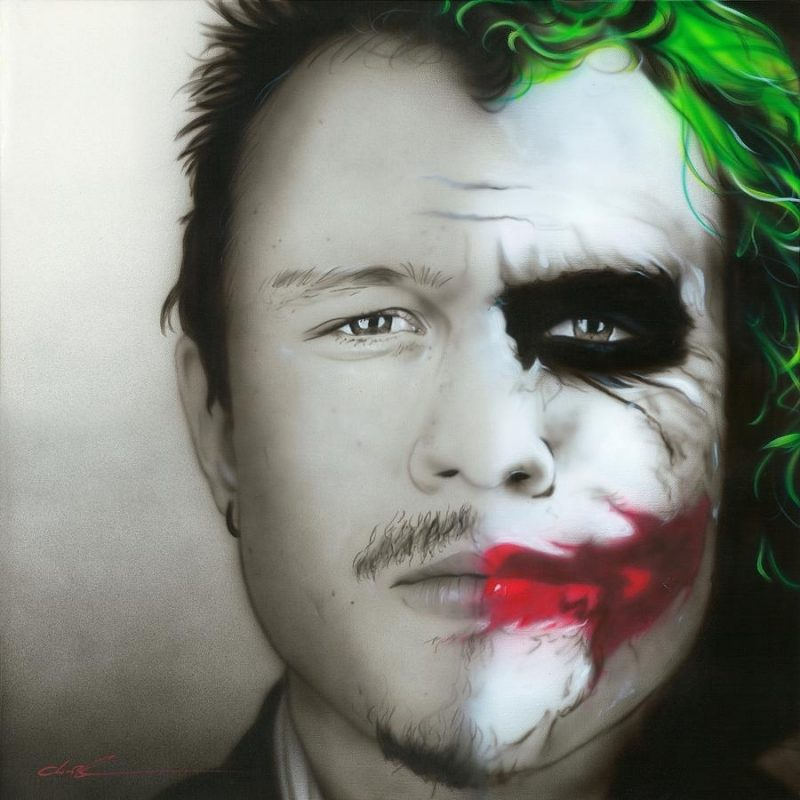 10 Latest Heath Ledger Joker Pics FULL HD 1080p For PC Desktop 2018 free download heath ledger joker paintingchristian chapman art 800x800