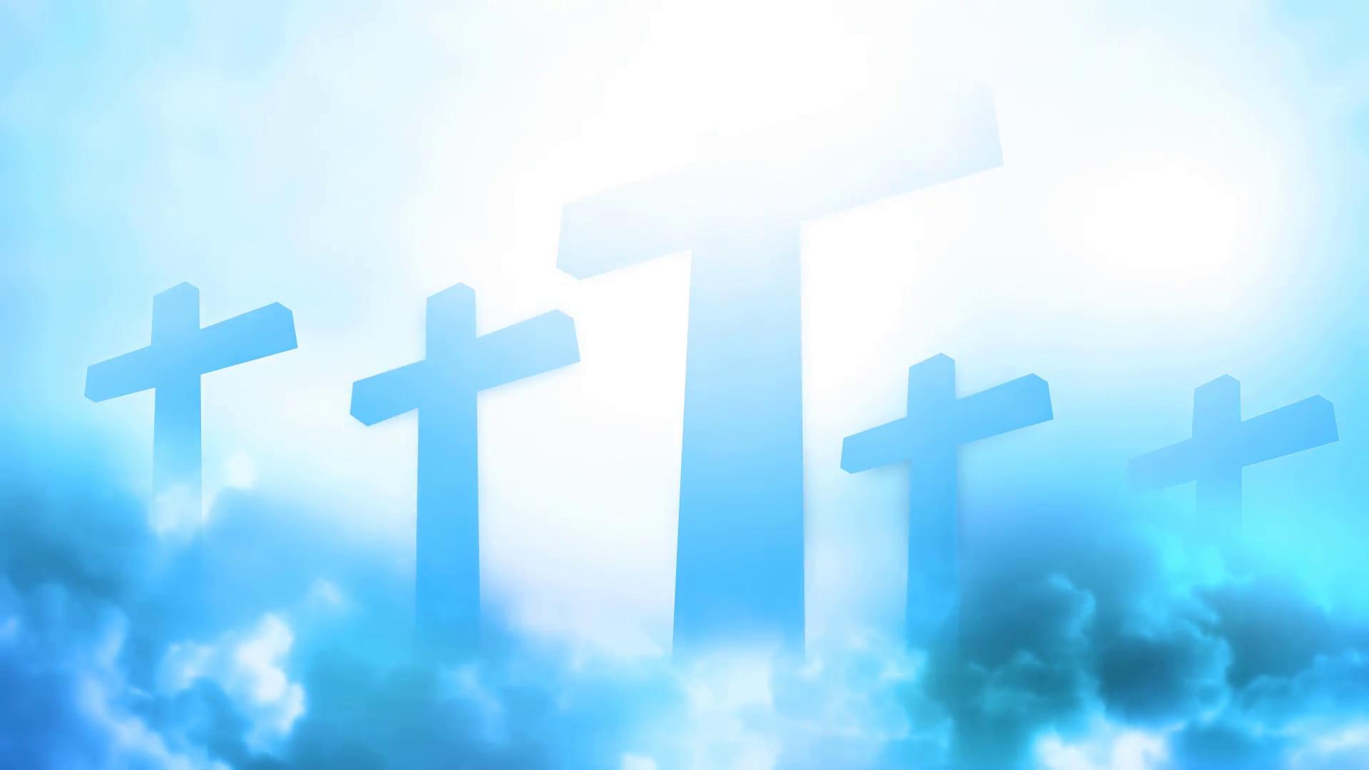 heavenly cross animated background motion background - videoblocks