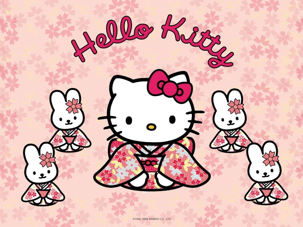 hello kitty wallpaper 1024x768 - wallpapersafari | hk wallpaper