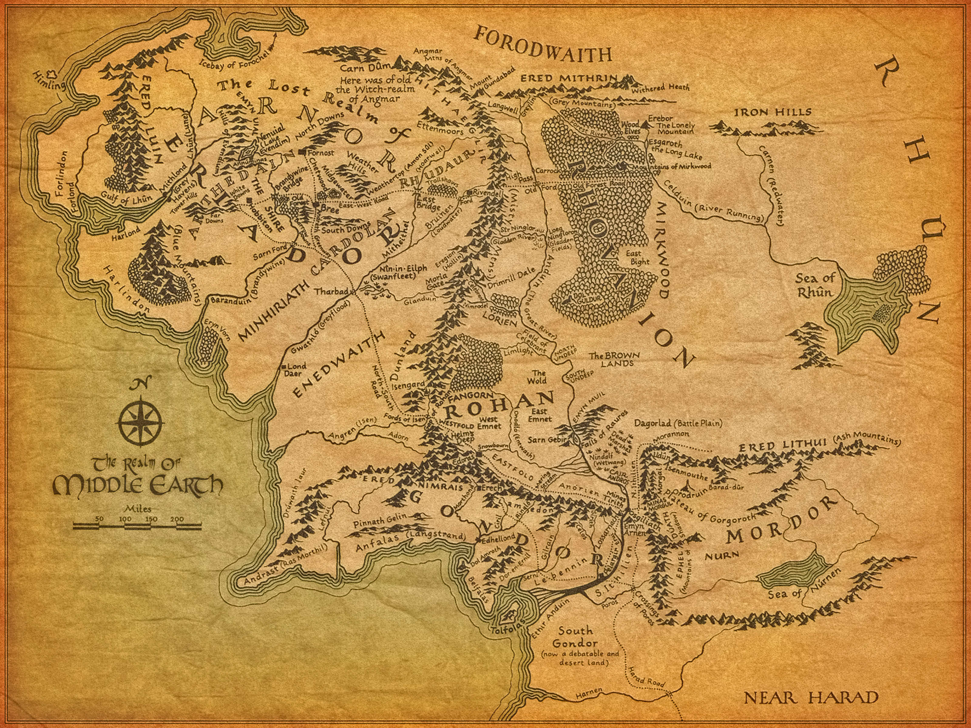 high resolution map of middle earth - album on imgur