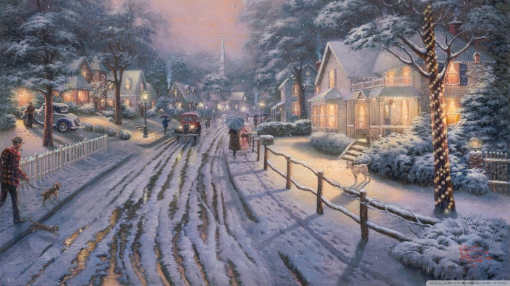 10 New Thomas Kinkade Christmas Wallpaper Hd FULL HD 1920×1080 For PC Desktop 2020 free download hometown christmas memoriesthomas kinkade e29da4 4k hd desktop 1024x576
