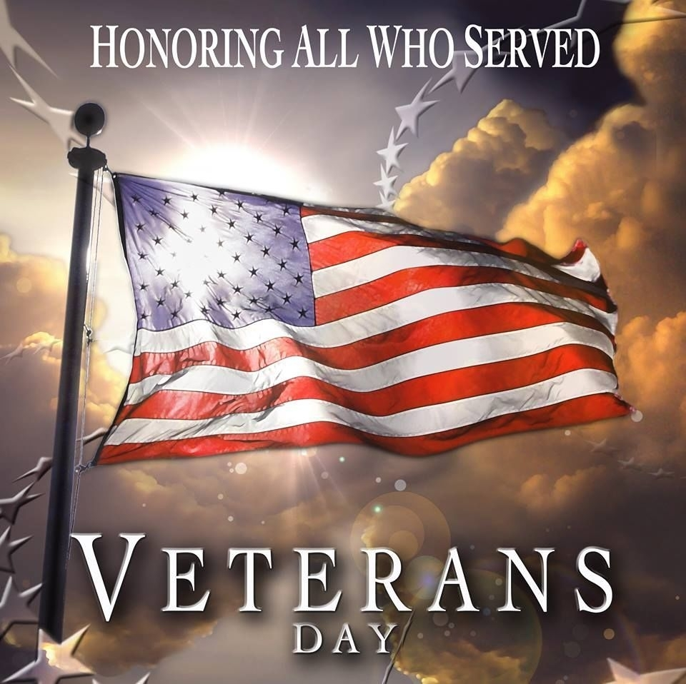 honoring all who served veterans day | red white & blue