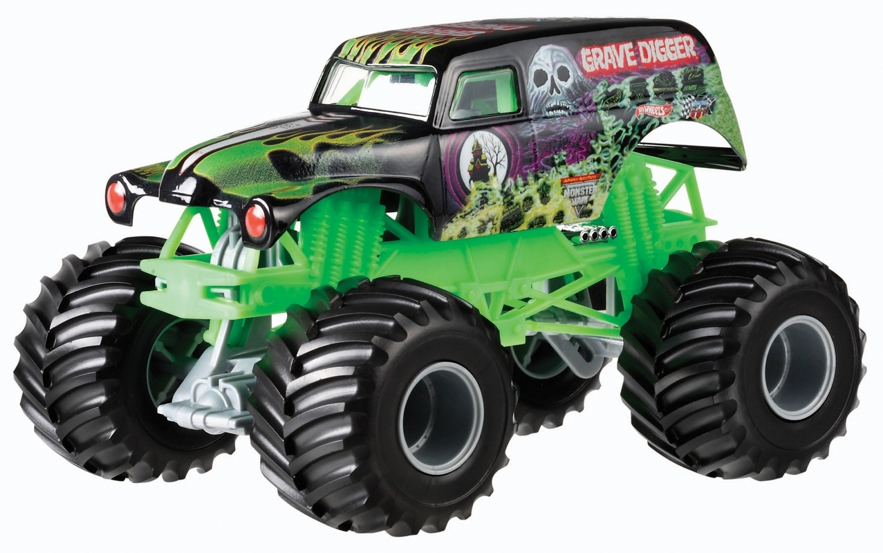 hot wheels® monster jam® grave digger® truck - shop hot wheels