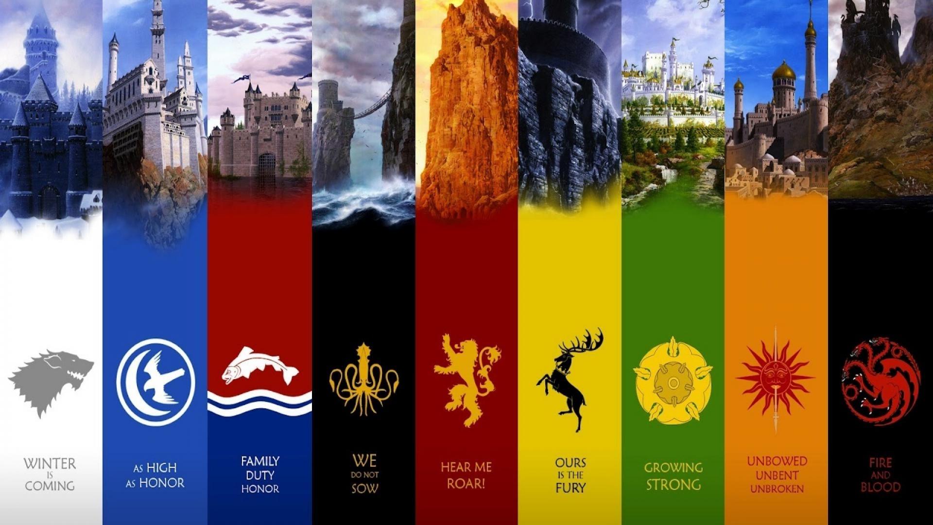 houses game of thrones logos tv series wallpaper   (103972)