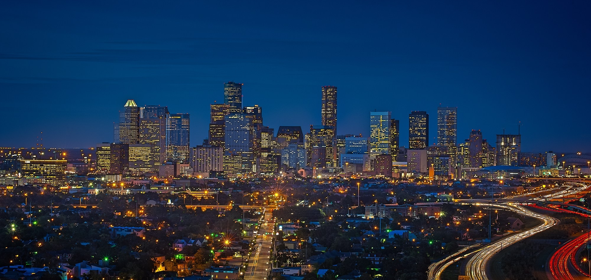 10 Top Houston Skyline At Night Hd FULL HD 1920×1080 For PC Desktop