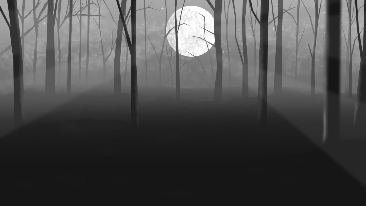 how to draw a forest at night (part 1). with manga studio 5. - youtube