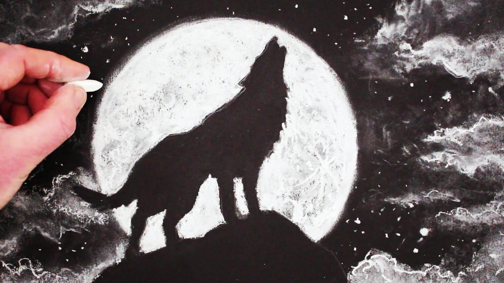 how to draw a wolf howling at the moon: stepstep - youtube