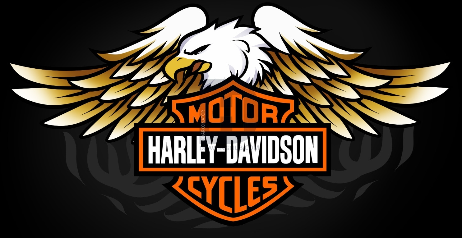 how to draw harley-davidson logo, harley-davidson, stepstep