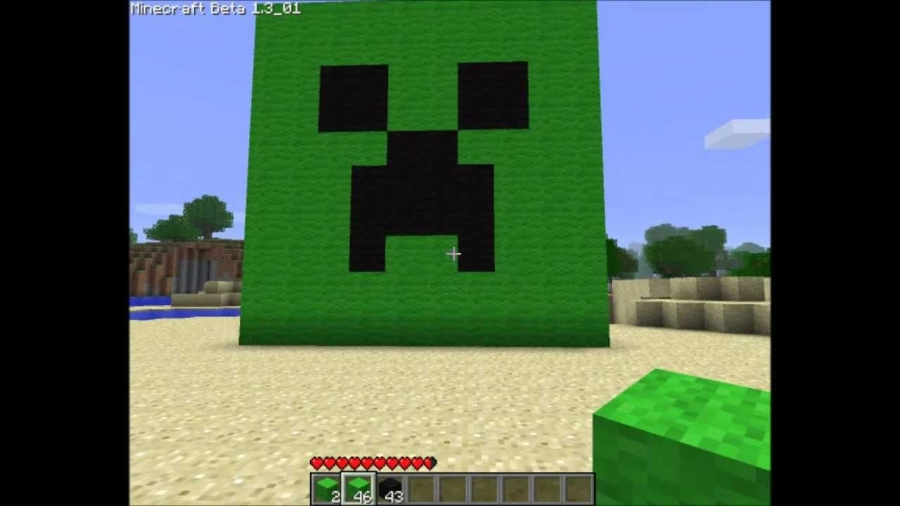 how to make a creeper face in minecraft! - youtube