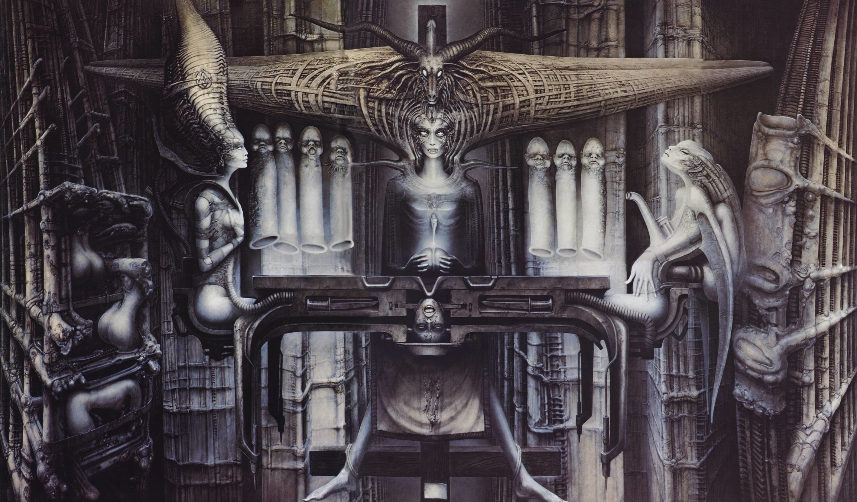 hr giger wallpaper ·①