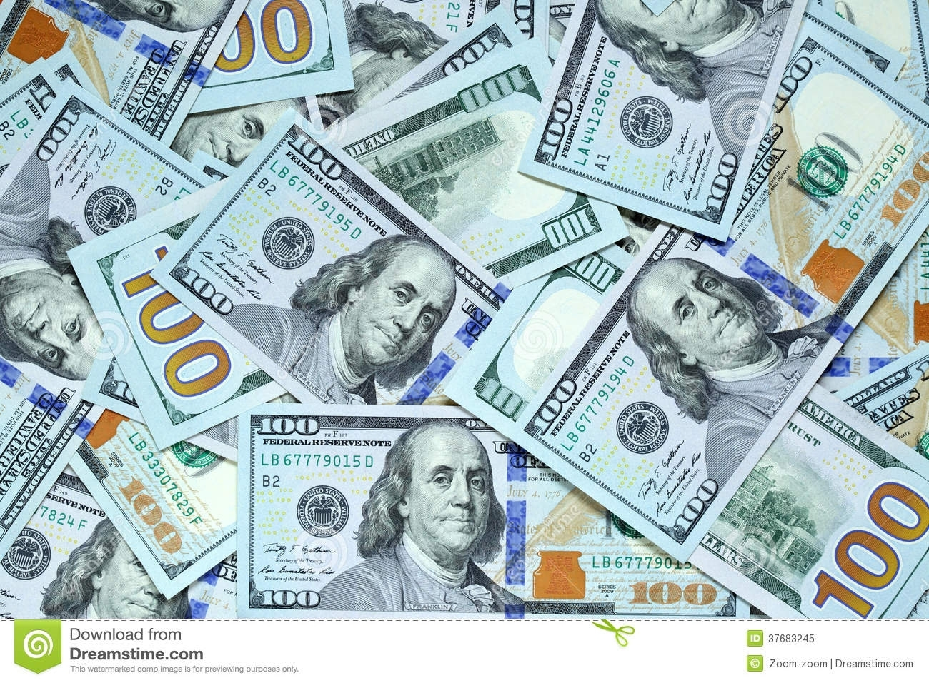 hundred dollar bills stock image. image of bills, bank - 37683245