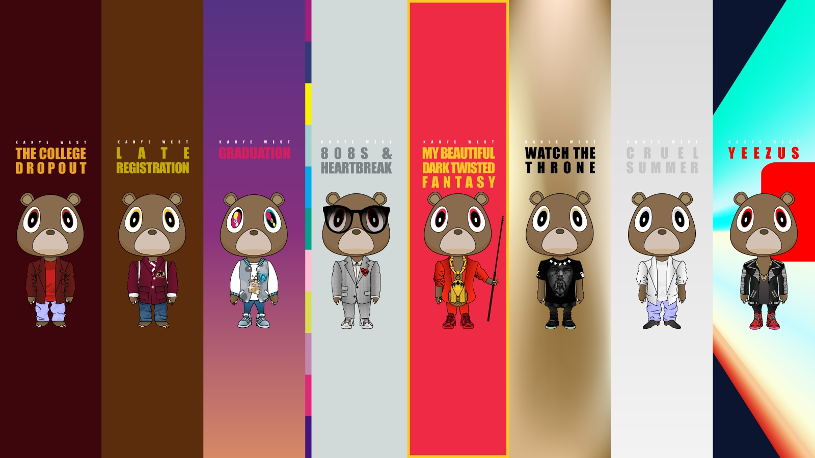 i just found this kanye west album style wallpaper - imgur