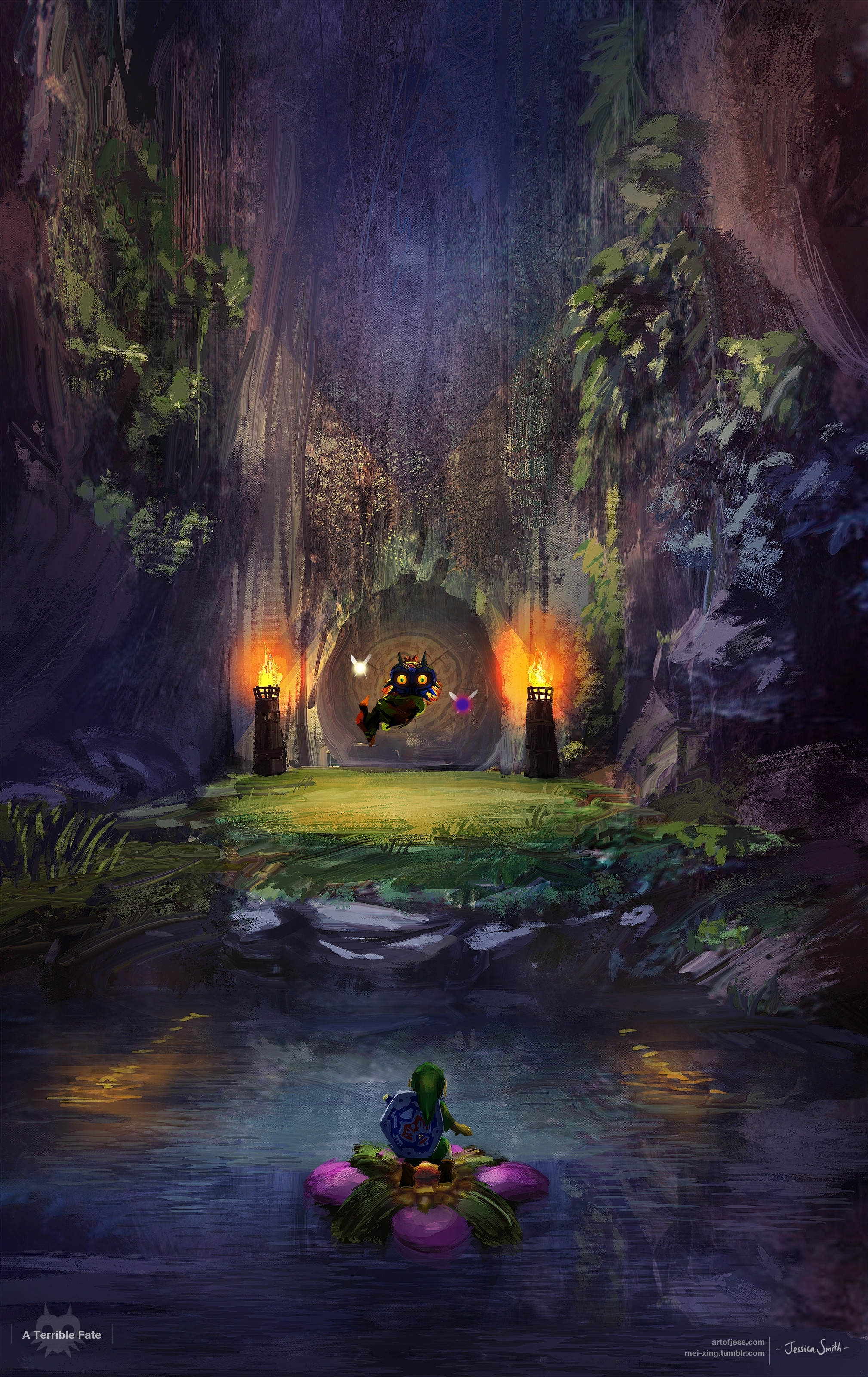 i wanted to paint something for majora's mask since it's coming out