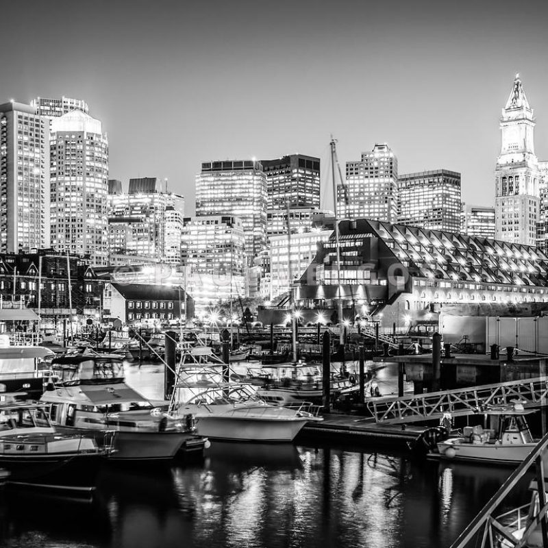 10 Latest Boston Skyline Wallpaper Black And White FULL HD 1920×1080 For PC Desktop 2020 free download image boston skyline at night black and white photo large canvas 800x800