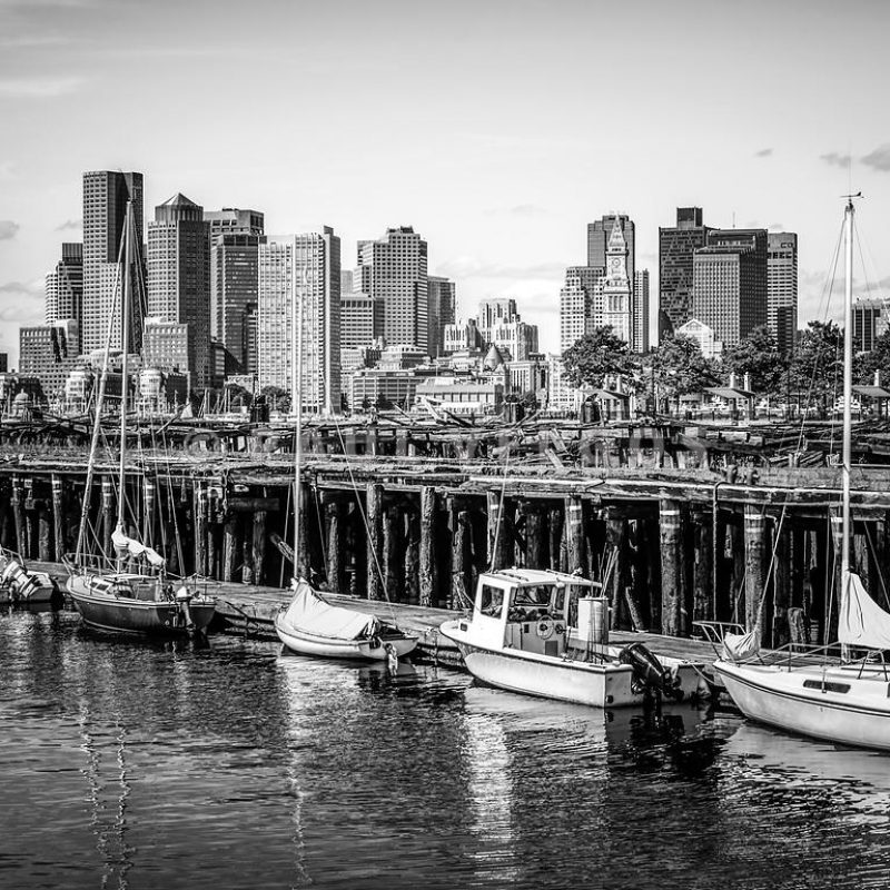 10 Latest Boston Skyline Wallpaper Black And White FULL HD 1920×1080 For PC Desktop 2020 free download image boston skyline at piers park black and white photo large 800x800