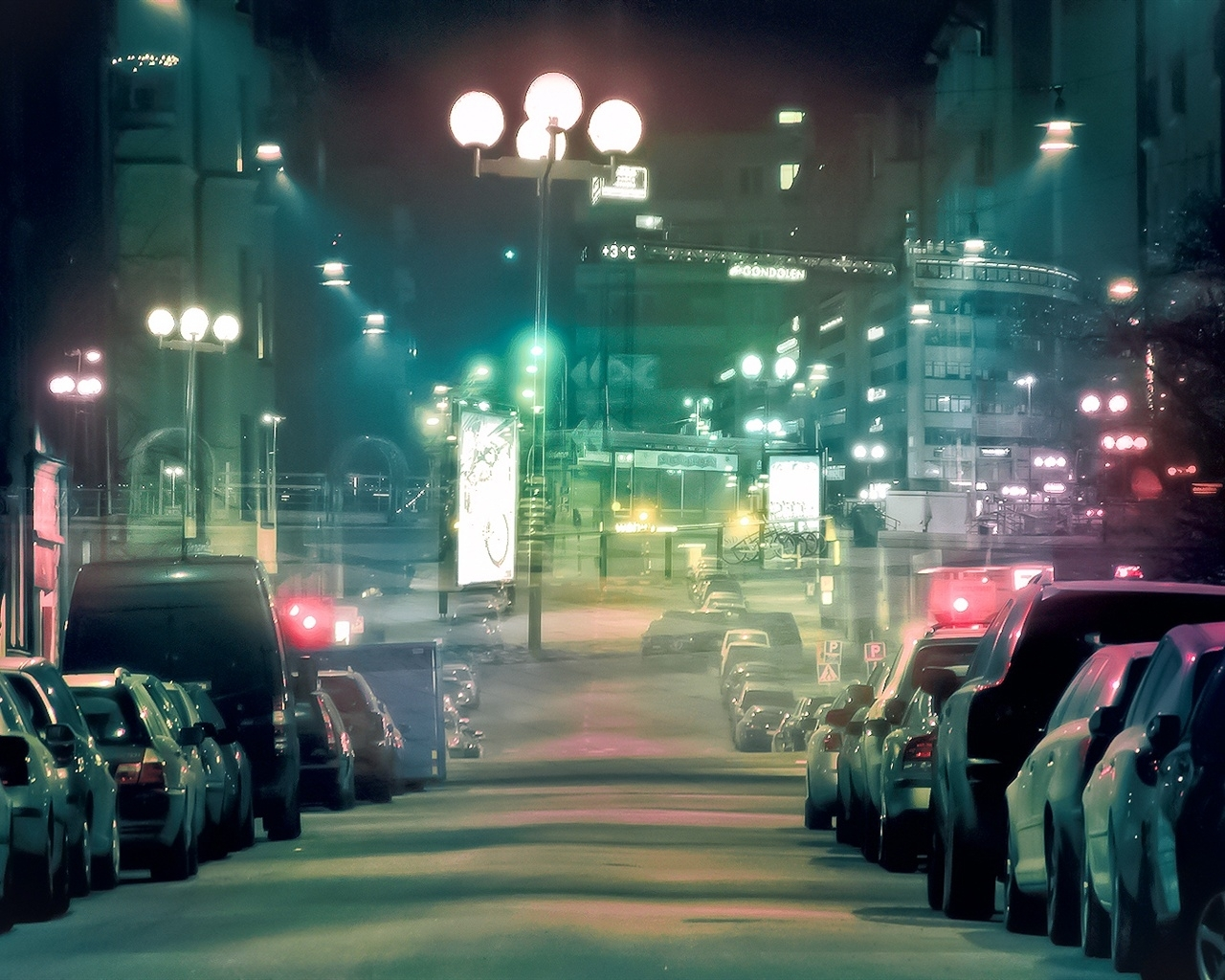 images for > city streets at night wallpaper | city streets