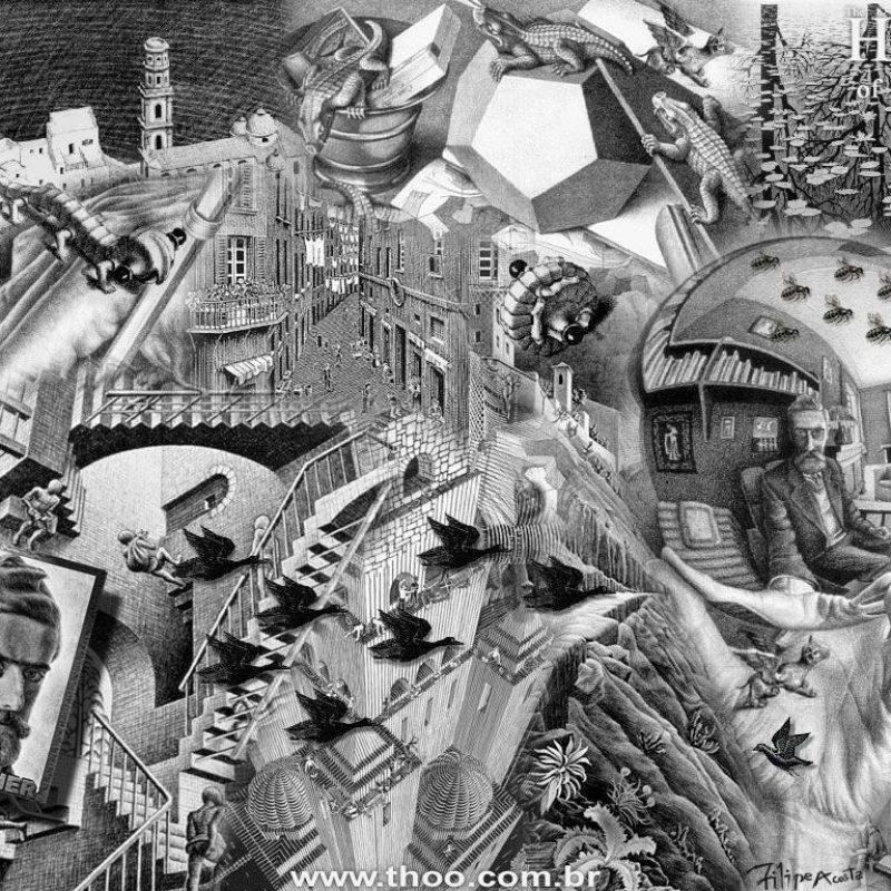 10 Best Mc Escher Wall Paper FULL HD 1920×1080 For PC Background 2018 free download infinity m c escher 25365 miscellaneous art wallpaper 800x800