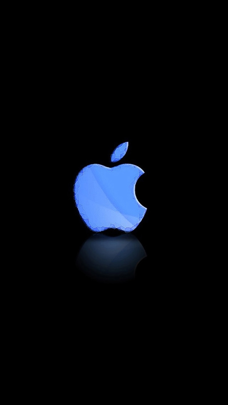 iphone 6 blue and green apple logo wallpaper plus - bing images