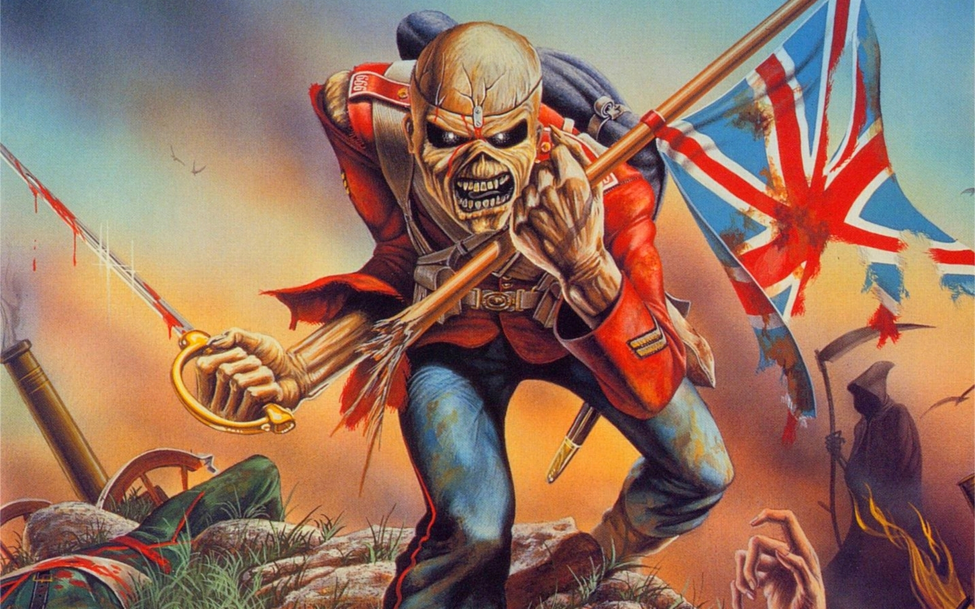 iron maiden eddie the head wallpaper | 1920x1200 | 20448 | wallpaperup
