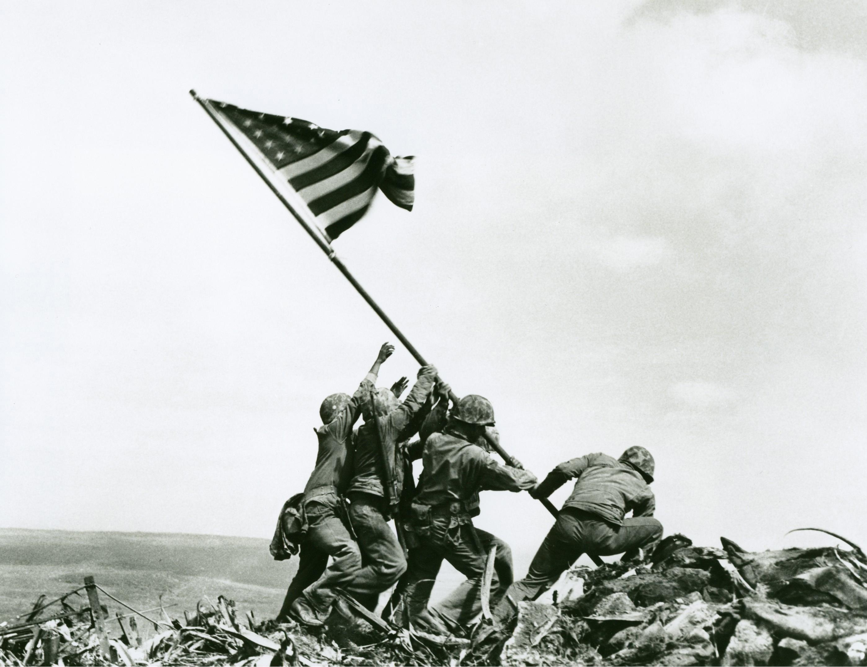 iwo jima flag raising wallpaper | 2797x2154 | id:30354