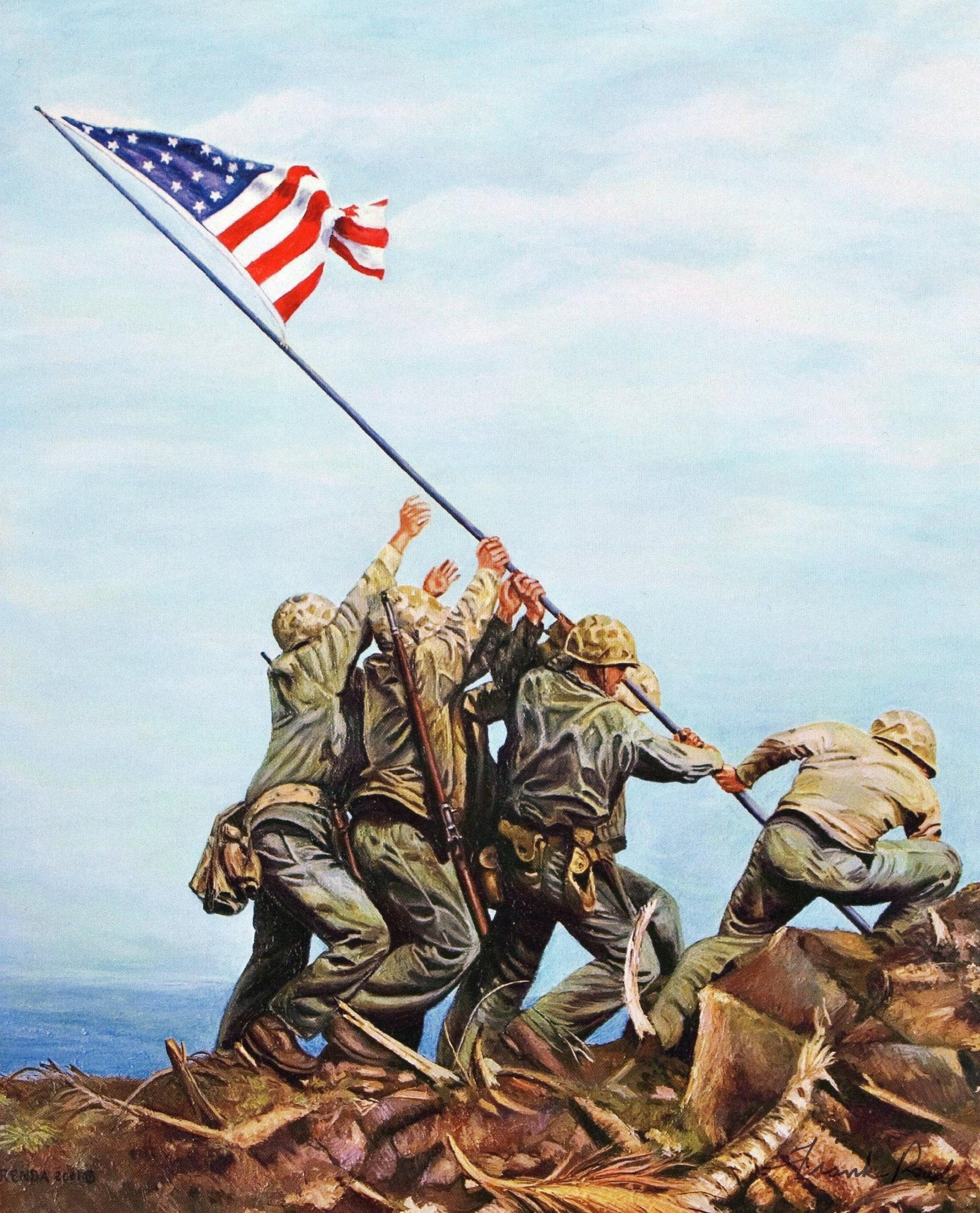 iwo jima flag raising wallpapers - wallpaper cave