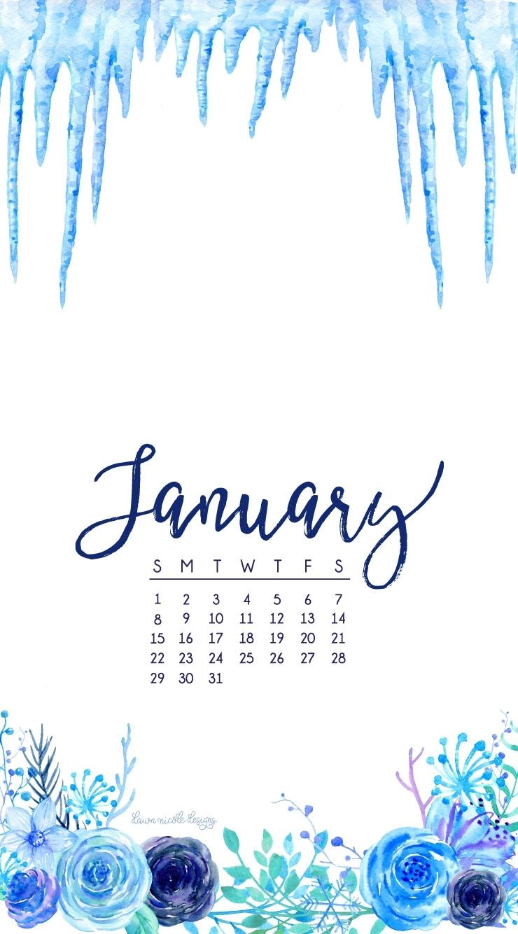 january 2017 calendar + tech pretties   dawn nicole designs®