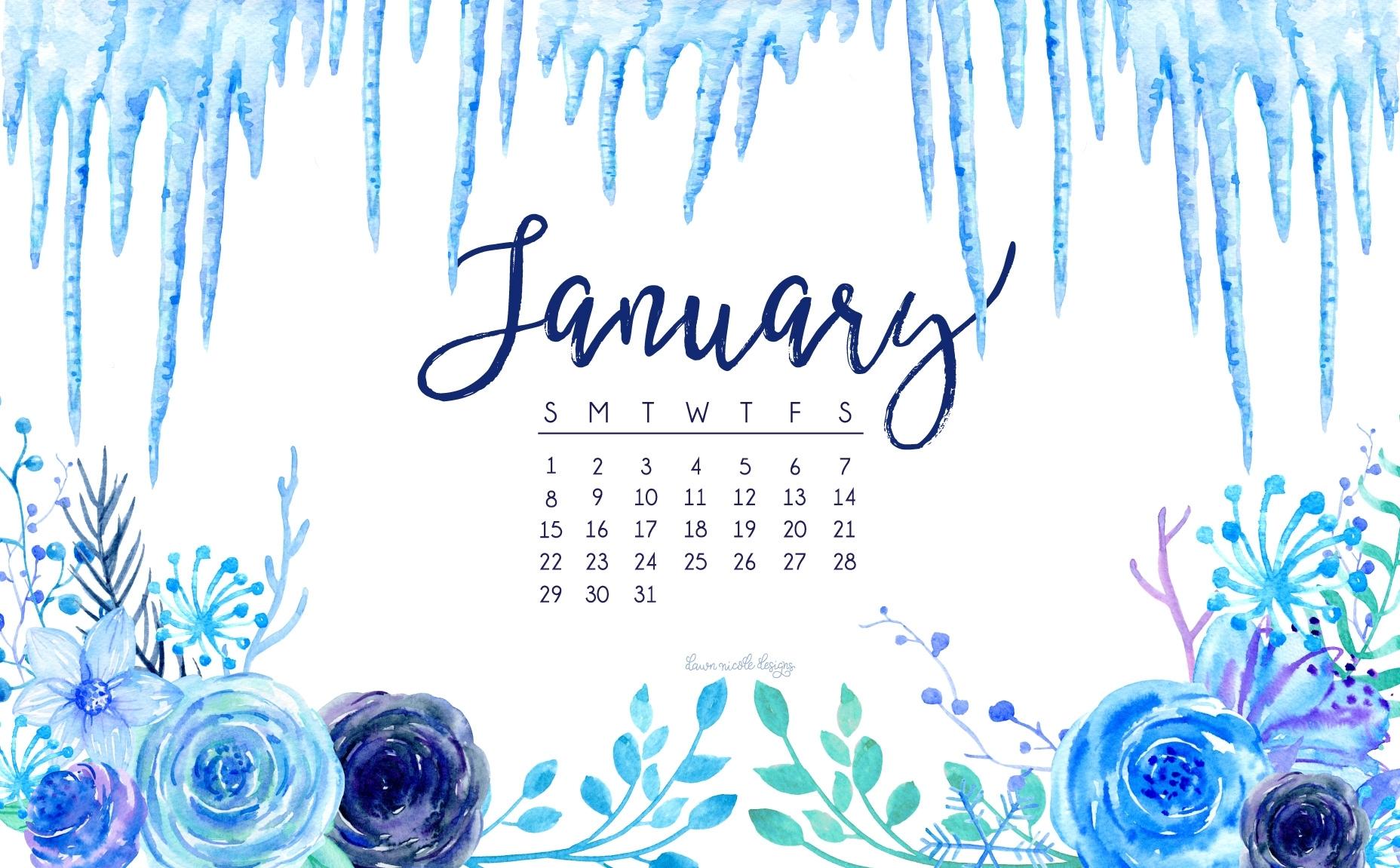 january 2017 calendar + tech pretties | dawn nicole designs®