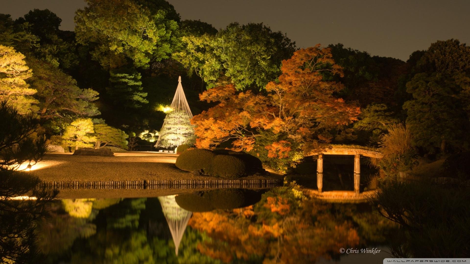 japanese garden at night ❤ 4k hd desktop wallpaper for 4k ultra hd