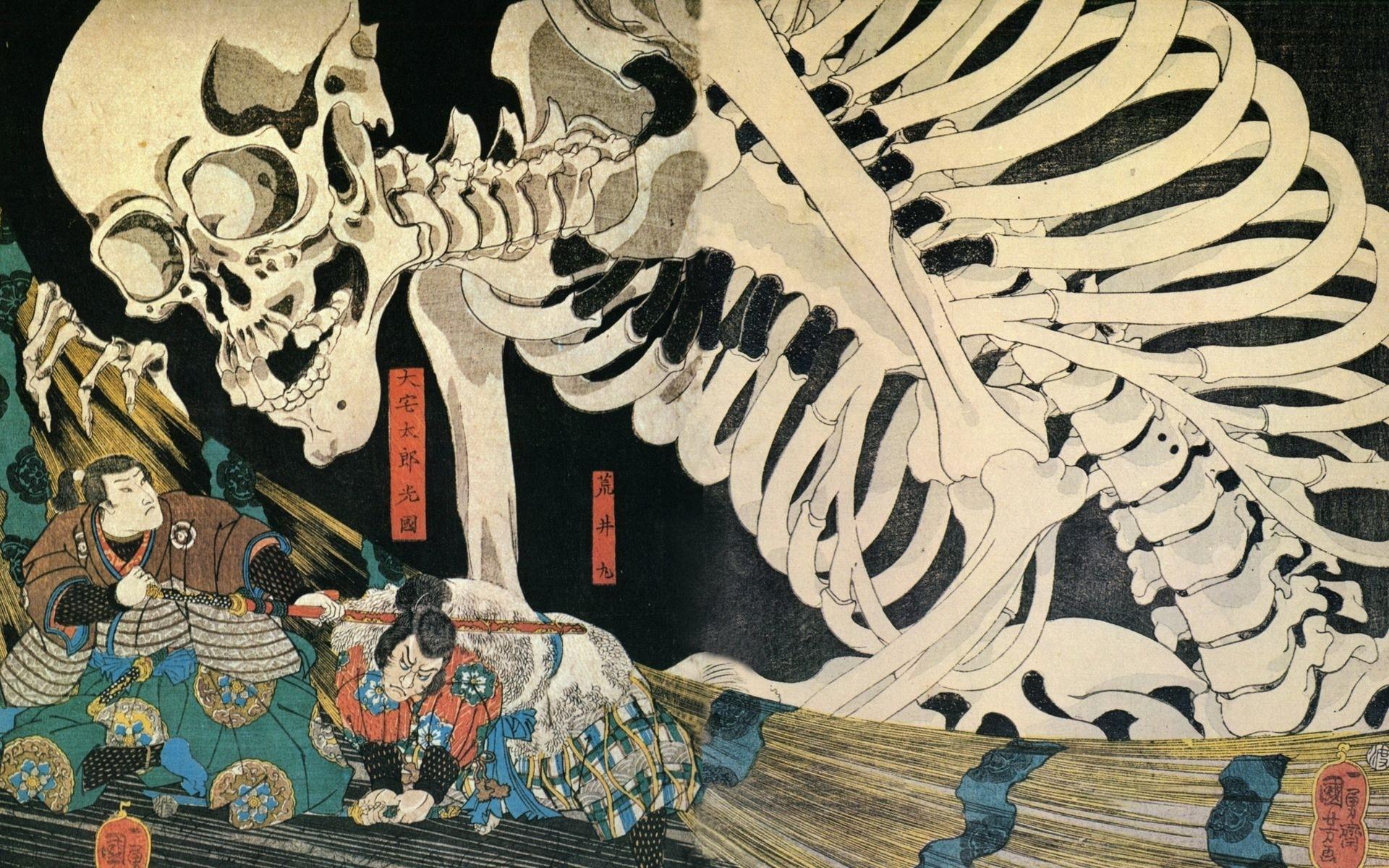 japanese ghost art | samurai art ukiyo e hd wallpaper with 1920x1200