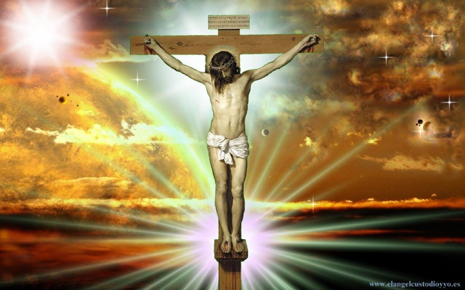 jesus on cross - walldevil