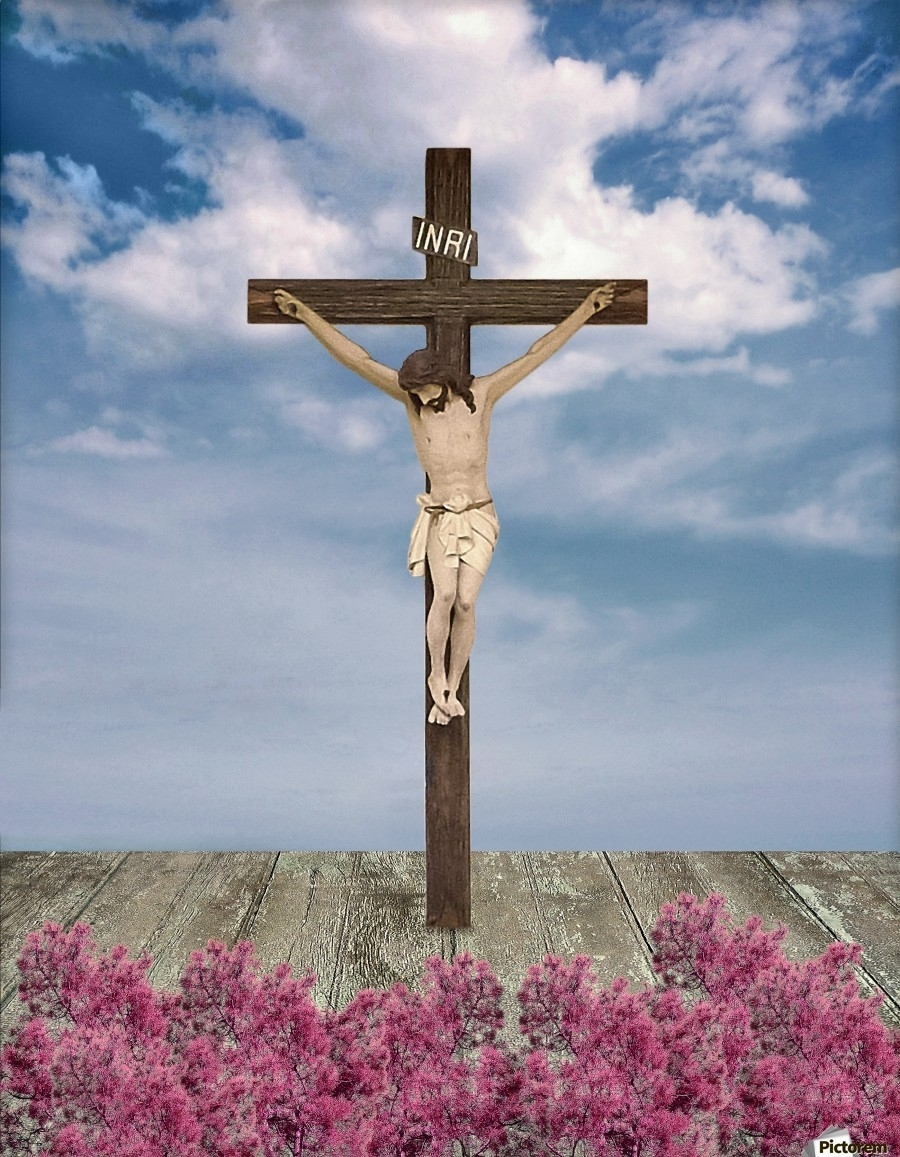 jesus on the cross illustration - daniel ferreia leites ciccarino toile