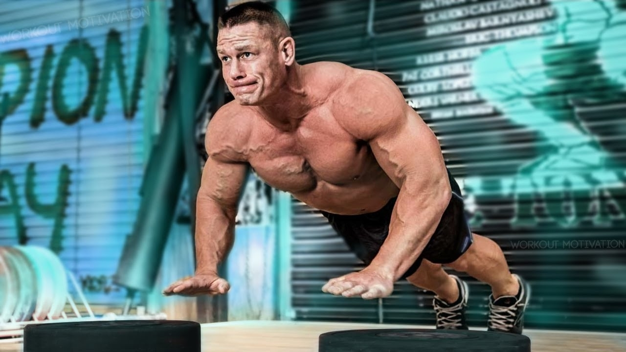 john cena workout motivation - wwe training - youtube