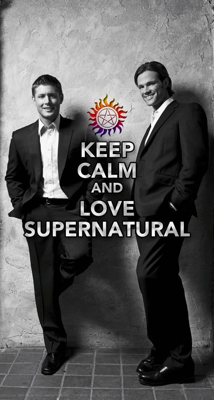 keep calm and love supernatural iphone 5 wallpaper #mobile9 click to