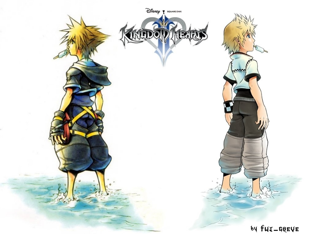 kingdom hearts 2 sora and roxas wallpaperfut-greve on deviantart