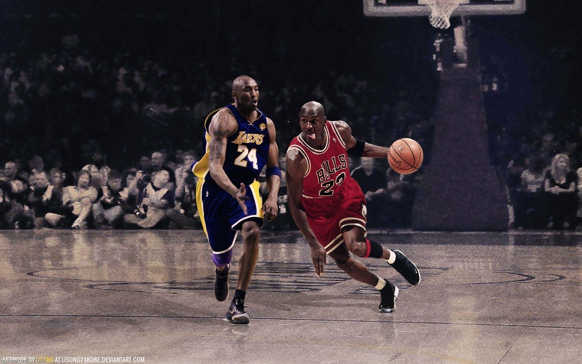 kobe vs jordan wallpaper hd ·①