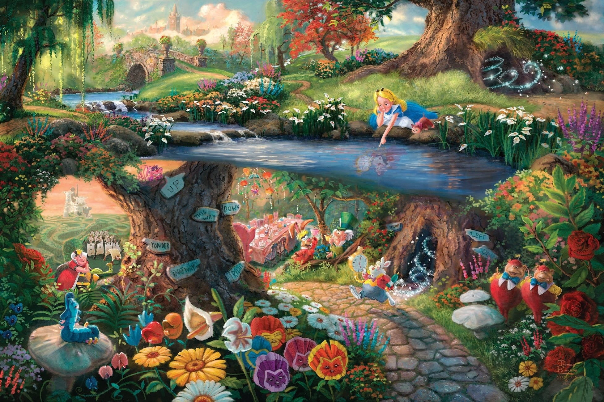 10 Most Popular Alice In Wonderland Desktop Background FULL HD 1920×1080 For PC Background