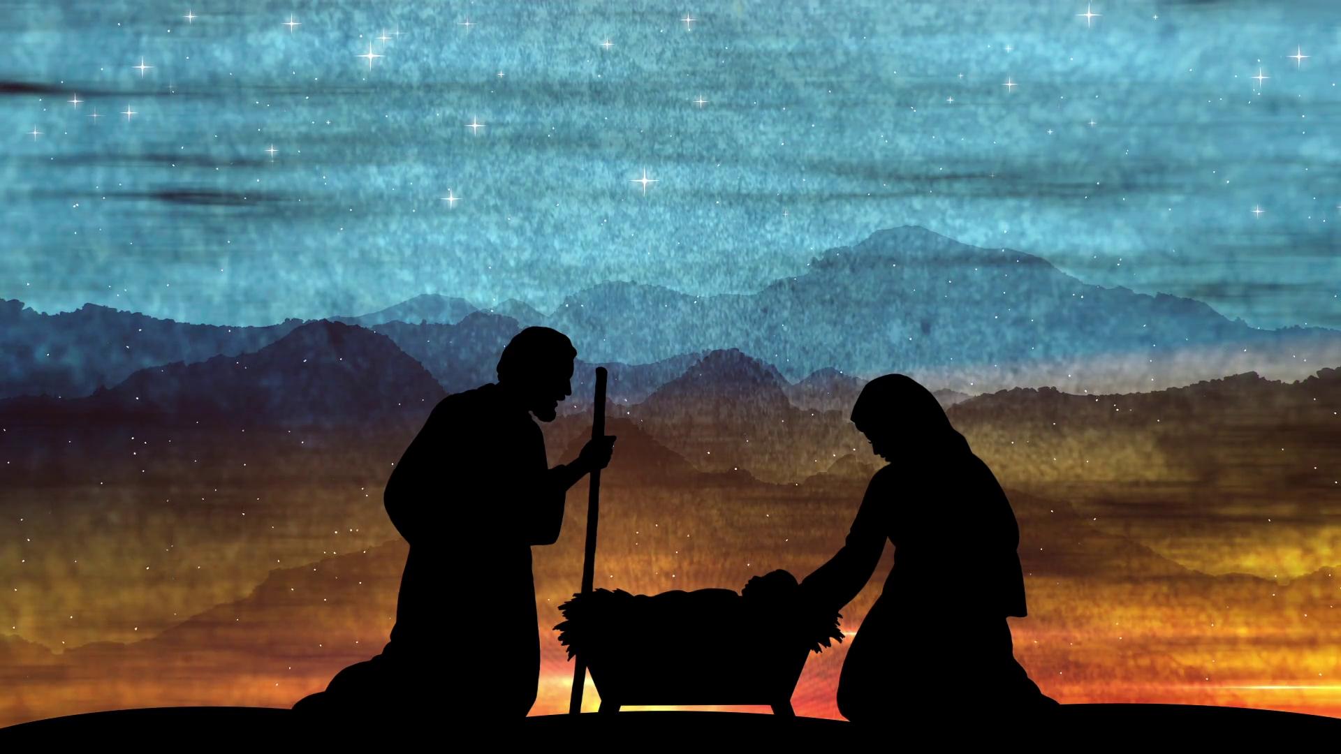 large christmas nativity advent background motion background