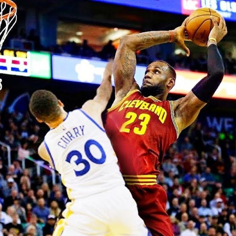 10 Latest Lebron James Dunking Pictures FULL HD 1920×1080 For PC Desktop 2018 free download lebron james dunks on stephen curry and crosses him over while 800x800