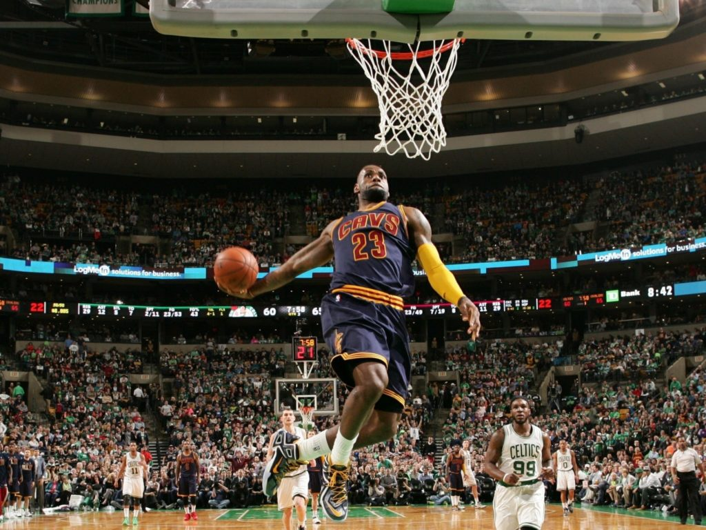 10 Latest Lebron James Dunks Images FULL HD 1080p For PC Background 2018 free download lebron james slam dunk wallpaper 63 images 1 1024x768