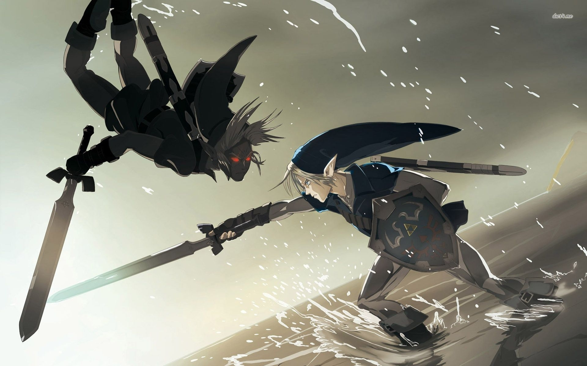link vs. dark link wallpaper | stuff | pinterest | wallpaper, dark