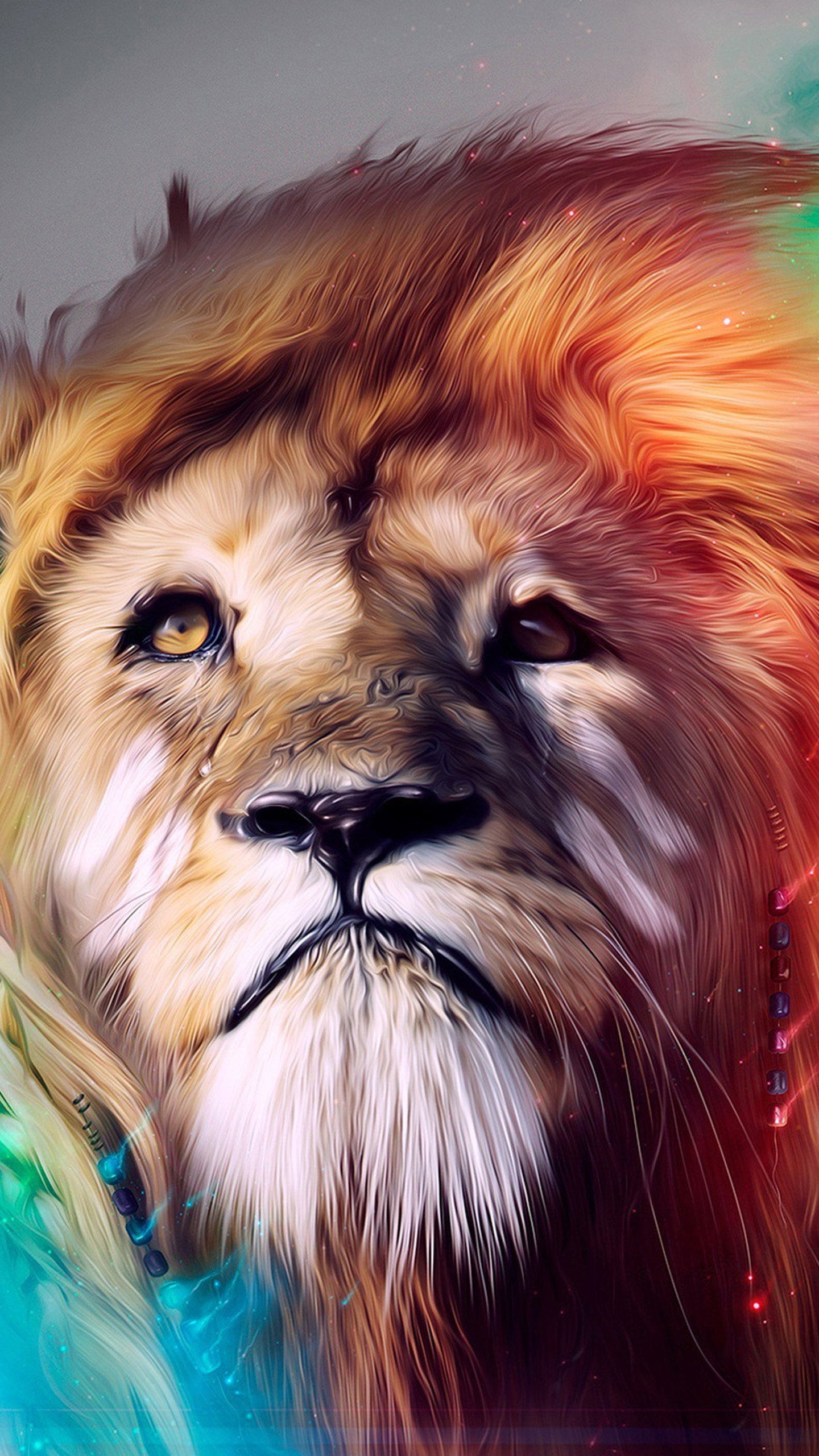 lion abstract galaxy s6 wallpaper | galaxy s6 wallpapers