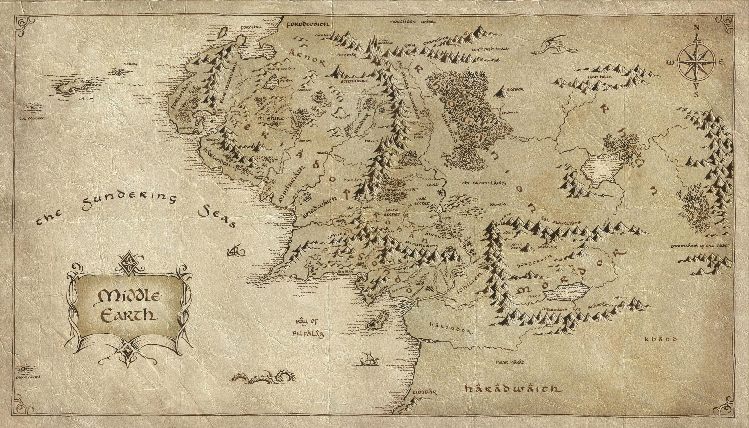 lord of the rings map middle earth download wallpaper map middle