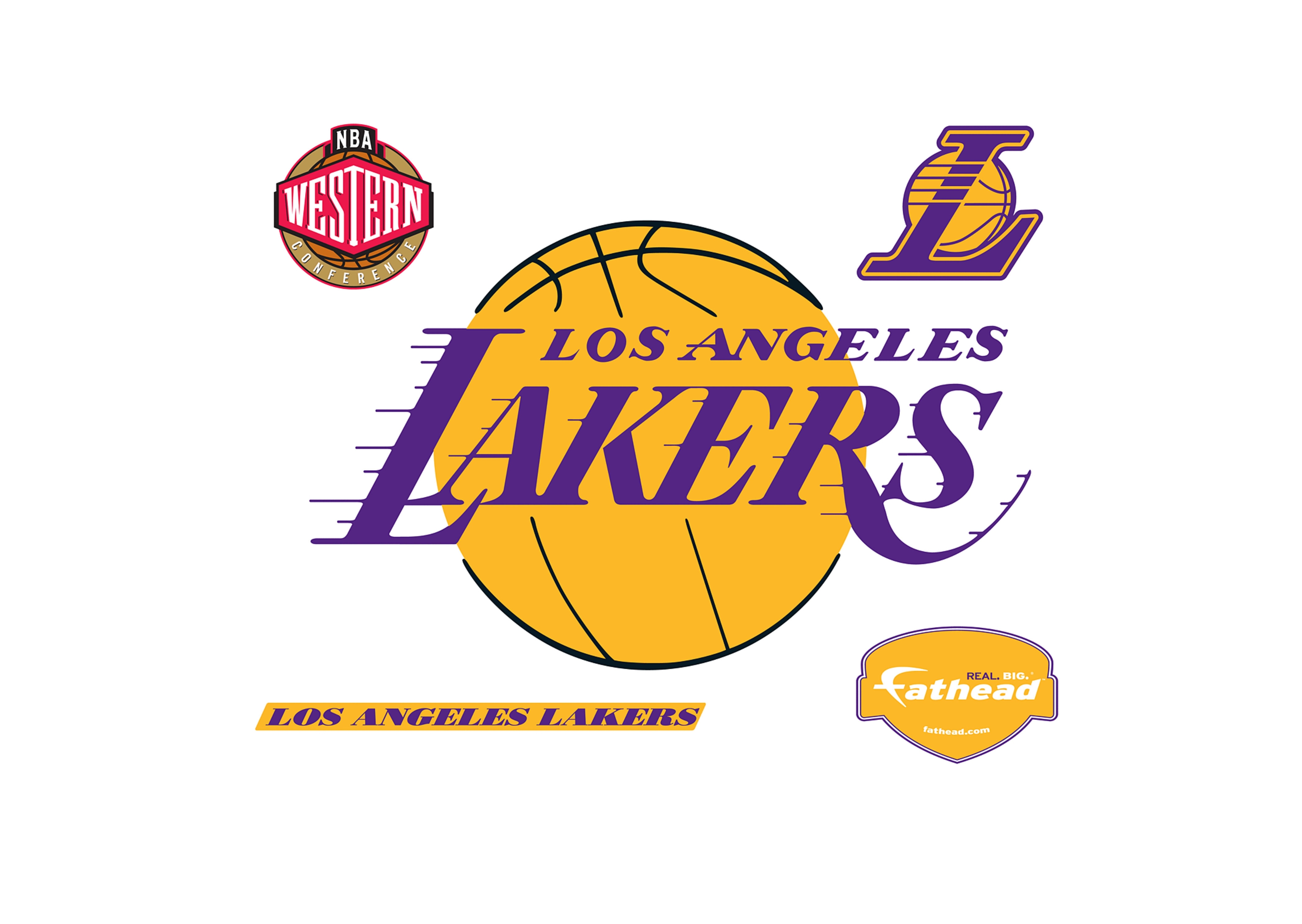 los angeles lakers logo wall decal | shop fathead® for los angeles