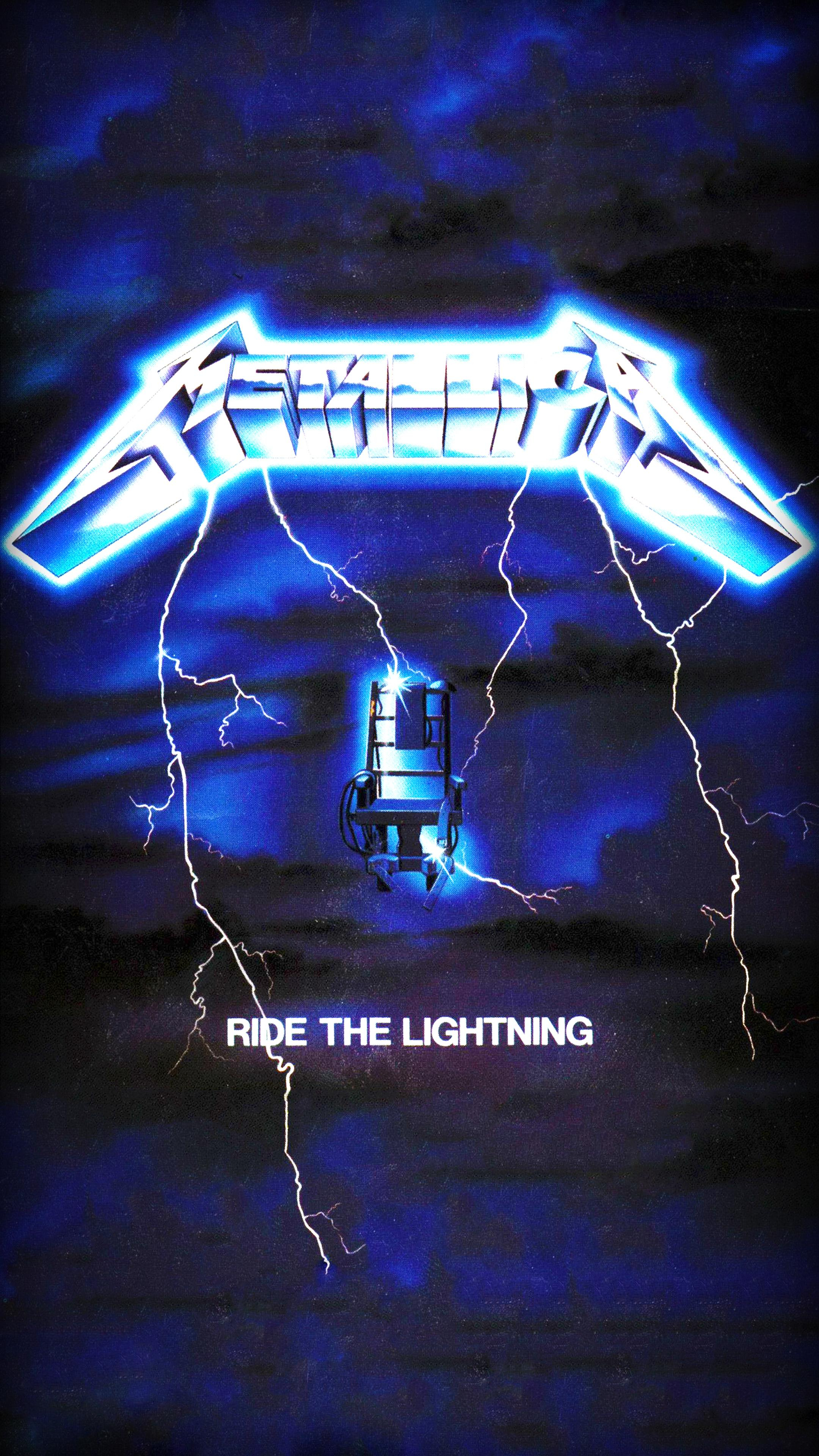 made this ride the lightning phone wallpaper. : metallica