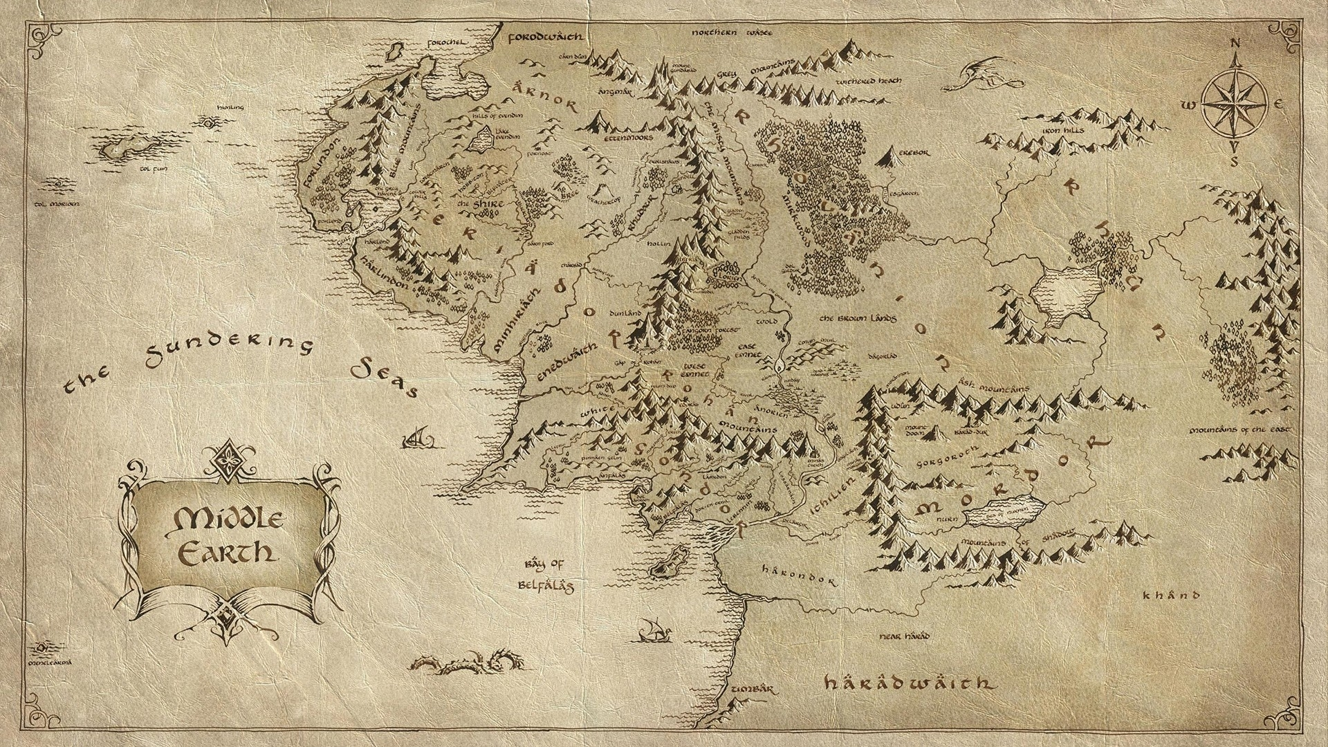 map of middle earth hd wallpaper | 1920x1080 | id:51689