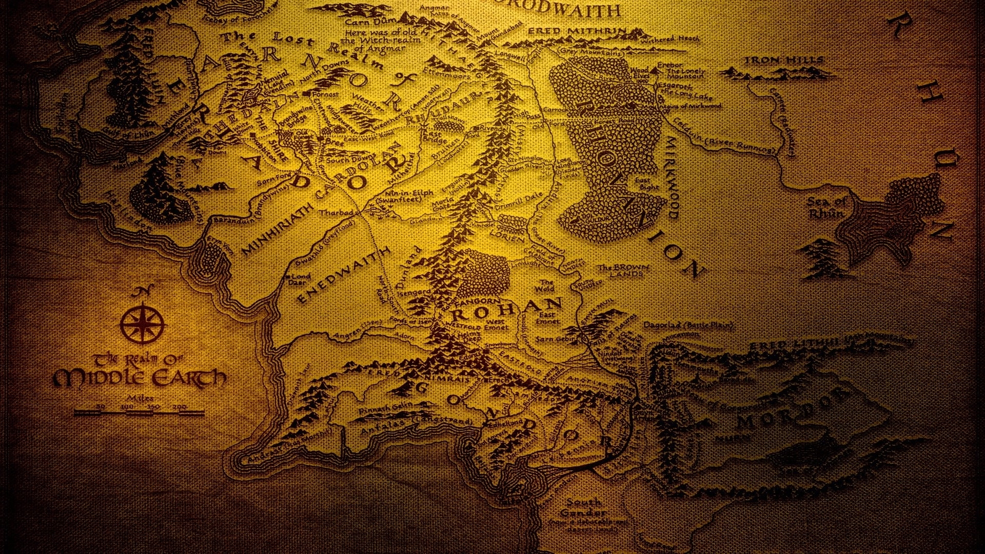 map of middle earth wallpaper (42+ images)